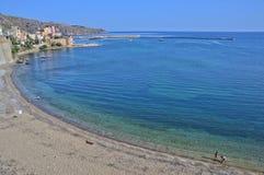 La plage de la ville de Castellammare en Sicile photographie stock