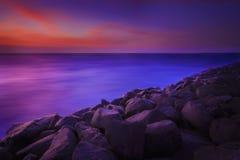 La plage des roches Image libre de droits