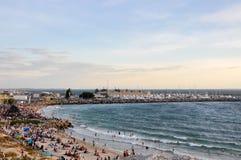 La plage du baigneur le jour d'Australie Photos stock