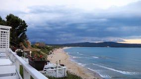 La plage du nord de Primorsko Photographie stock libre de droits