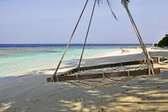 La plage en Maldives Photographie stock