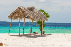 La plage en Maldives Photos libres de droits