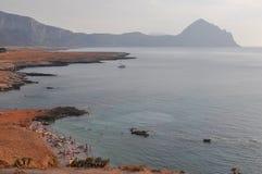 La plage en San Vito Lo Capo images stock