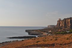 La plage en San Vito Lo Capo photos stock