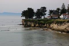 La plage en Santa Cruz Images libres de droits