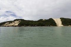 La plage et le ` Morro de Ponta Negra font le ` de Careca - natal, RN, Brésil Photos stock