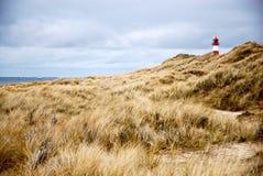 La plage et le phare Image libre de droits