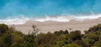 La plage grecque image stock