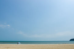 La plage isolée Photo stock