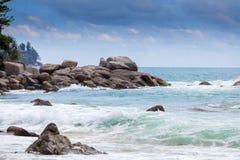 La plage Laem chantent à Phuket Photo stock