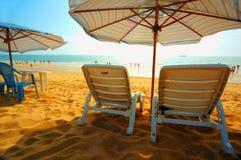 La plage le matin Image libre de droits