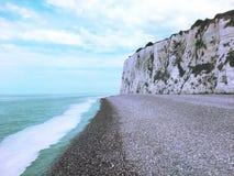 La plage, Normandie, France Images stock