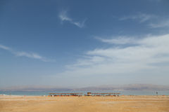 La plage populaire de la mer morte Photo libre de droits
