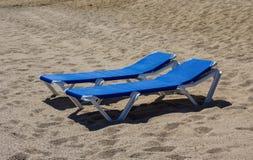 La plage pour deux Image libre de droits