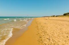 La plage solaire Photographie stock libre de droits