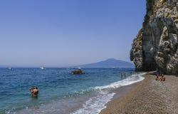 La plage sur la côte d'Amalfi Photos libres de droits