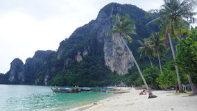 La plage tropicale en Thaïlande sur le phi de phi de ko mettent l'île Photos libres de droits