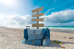 La plage vacations des directions Image stock