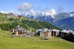 La Plagne in alpi francesi Immagine Stock Libera da Diritti