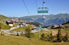 La Plagne in den französischen Alpen lizenzfreie stockbilder