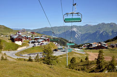 La Plagne in French Alps Royalty Free Stock Images