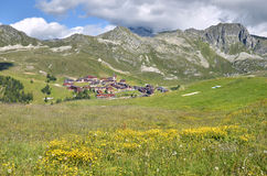 La Plagne in french Alps stock photography