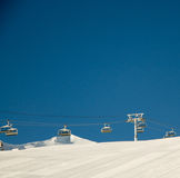 Empty Ski lifts Royalty Free Stock Images