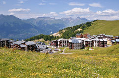 La Plagne village in France Royalty Free Stock Photography