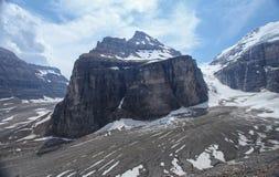 La plaine de six glaciers dans le Canada Image libre de droits