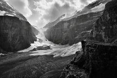 La plaine des six parcs nationaux de Banff de glaciers images stock