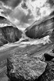 La plaine des six parcs nationaux de Banff de glaciers photo libre de droits