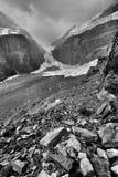 La plaine des six parcs nationaux de Banff de glaciers photos libres de droits