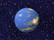 La planète bleue du cosmos tient le premier rôle des milieux Images libres de droits