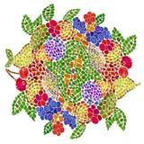 La planète de la terre est le concept de macédoine de fruits Image stock