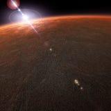 La planète de Mars Photographie stock