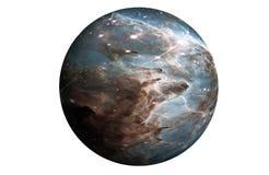 La planète fantastique est grise, d'isolement sur le fond blanc Des ?l?ments de cette image ont ?t? fournis par ESA-Hubble photo libre de droits