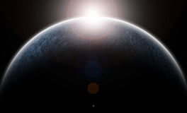 La planète glacée illustration de vecteur