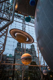 La planète modèle à la terre et à l'espace Hall du musée américain de l'histoire naturelle AMNH - New York, Etats-Unis Image libre de droits