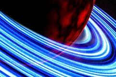La planète rouge ou trouble la vue étroite d'image photographie stock