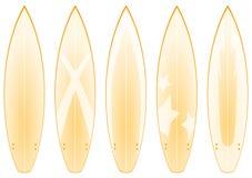 La planche de surfing conçoit (le jaune) Photos libres de droits