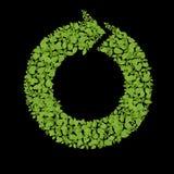 La planta verde recicla el icono libre illustration