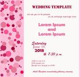 La plantilla de la boda subió Imagen de archivo libre de regalías