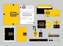 La plantilla de la identidad corporativa para su negocio incluye la cubierta CD Foto de archivo libre de regalías