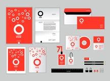 La plantilla de la identidad corporativa para su negocio incluye la cubierta CD Foto de archivo
