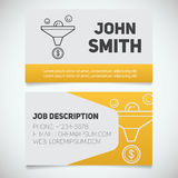 La plantilla de la impresión de la tarjeta de visita con ventas concentra el logotipo Imágenes de archivo libres de regalías