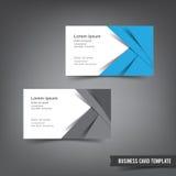 La plantilla de la tarjeta de visita fijó 031 capa azul y blanca Imagenes de archivo