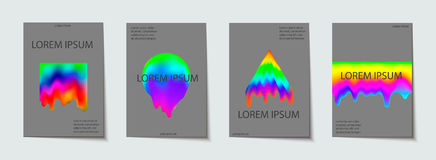 La plantilla de moda fijó con las formas de neón modernas futuristas para el cartel, cubierta, tarjeta, broshure, bandera Imágenes de archivo libres de regalías