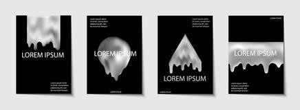 La plantilla de moda fijó con las formas modernas futuristas para el cartel, cubierta, tarjeta, broshure, bandera Fotos de archivo