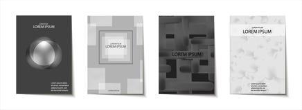 La plantilla de moda fijó con las formas modernas futuristas para el cartel, cubierta, tarjeta, broshure, bandera Fotos de archivo libres de regalías