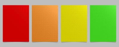 La plantilla de semitono abstracta retra del aviador del modelo del círculo fijó - vector el fondo del folleto gráfico con los pu Fotos de archivo libres de regalías